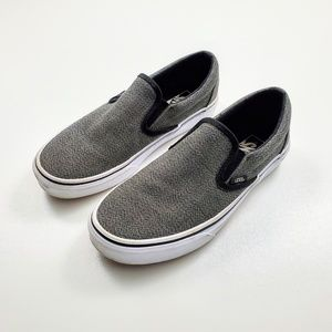 Vans Asher Shoes Gray Slip-on Sneakers